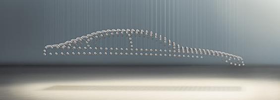Kinetisches Mobile kinetische skulptur joachim sauter kineticarchitecture